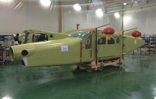 两江新区组装首架瑞士pc-6飞机机身下线