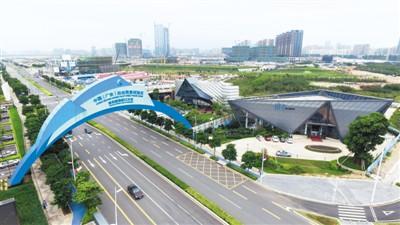 图为广东自贸区深圳前海蛇口片区一角.图片