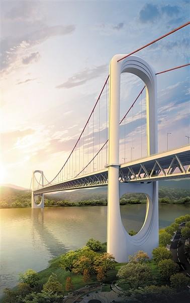 郭家沱长江大桥开建图片