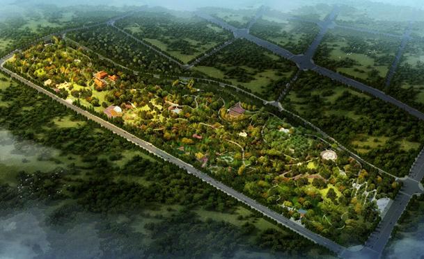 思源郊野公园鸟瞰图(重庆两江新区市政景观建设有限公司供图)